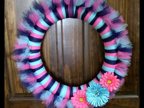 How To Make Tulle Wreath