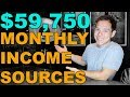 How I built 6 Income Sources That Generate $59,750 Per Month