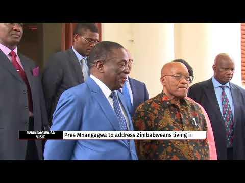 President Zuma meets Zimbabwe President Emmerson Mnangagwa