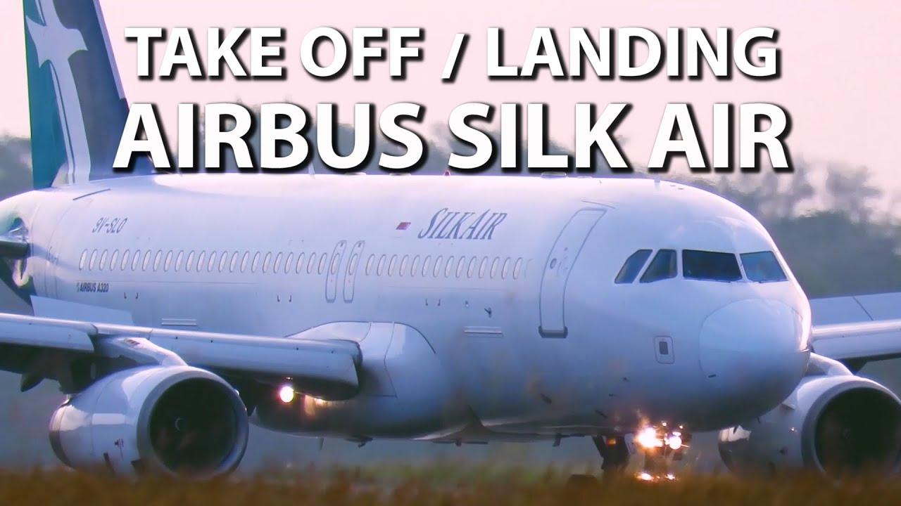 Melihat Keindahan Body Pesawat Airbus Silk Air Ketika Terbang (Pesawat Terbang Take Off dan Landing)