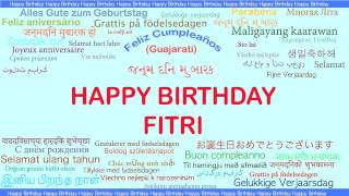 Fitri   Languages Idiomas - Happy Birthday