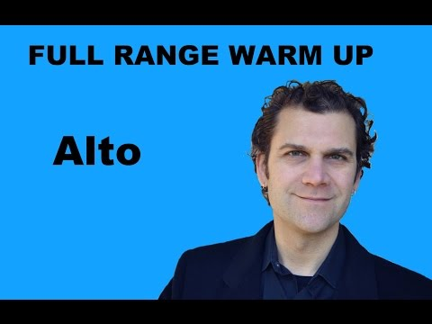 Singing Warm Up - Alto Full Range