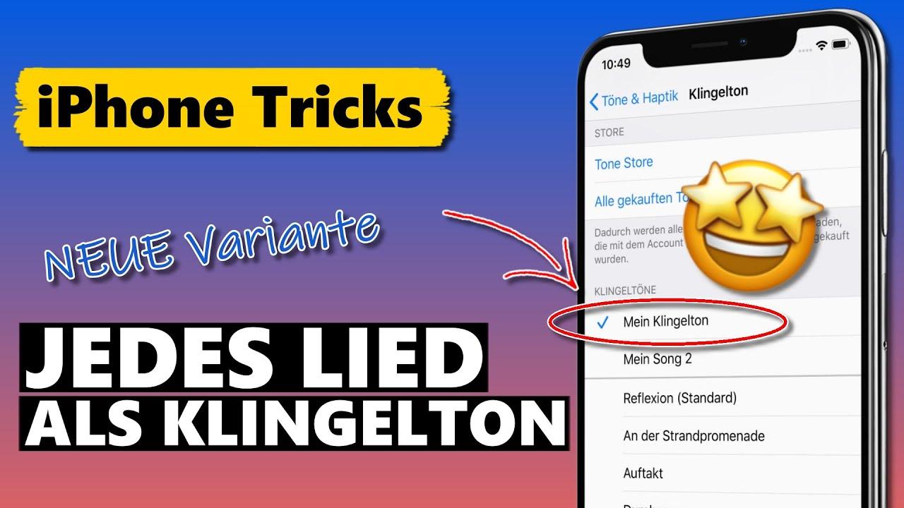 JEDES Lied als iPhone Klingelton einstellen (neue EINFACHE Methode für iOS 14 & iOS 13)