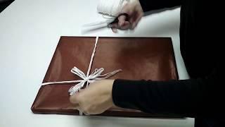 Оформление подарков. Упаковка рамки в декоративную бумагу.