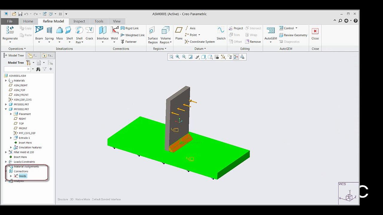 Creo Weld Analysis Simulation