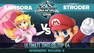 Samsora vs Stroder - Winners' Round 2: Ultimate Singles Top 64 - Mainstage | Peach vs Mario