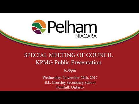 Special Meeting of Council - KPMG Public Presentation