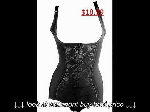 f1c353d1e6dee Shymay Women s Lace Bodyshaper Corset Body Briefer Bodysuit Slimming  shapewear
