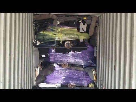 Американская свалка ( погрузка половинок в контейнер на Алматы )