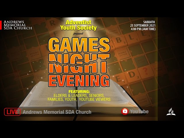 Adventist Youth Society || Games Night Evening || Sept. 25, 2021