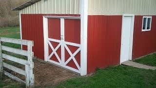 "Building Red Barn Doors With The ""x"" In Them."