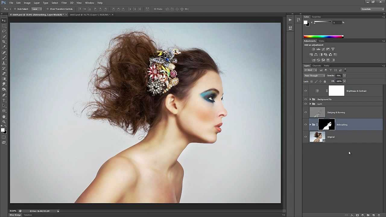 Retouch airbrush and smooth skin professionally in photoshop youtube baditri Gallery