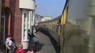 2 x 73 + 37250 at Weymouth Quay 2nd May 1999. on board train.