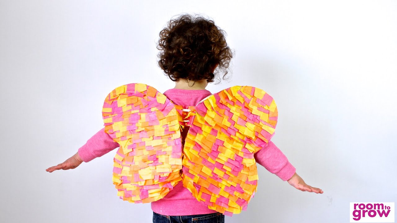 butterfly wings made out of tissue paper crafts for kids youtube
