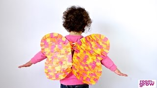 Butterfly Wings made out of Tissue Paper | Crafts for Kids