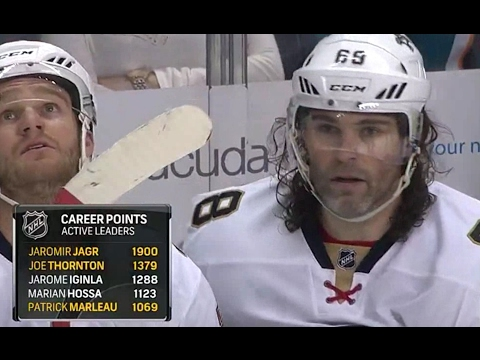 Ягр набирает 1900 очков в НХЛ в 45 день рождения / Jagr gets 1,900th NHL point on his 45th birthday