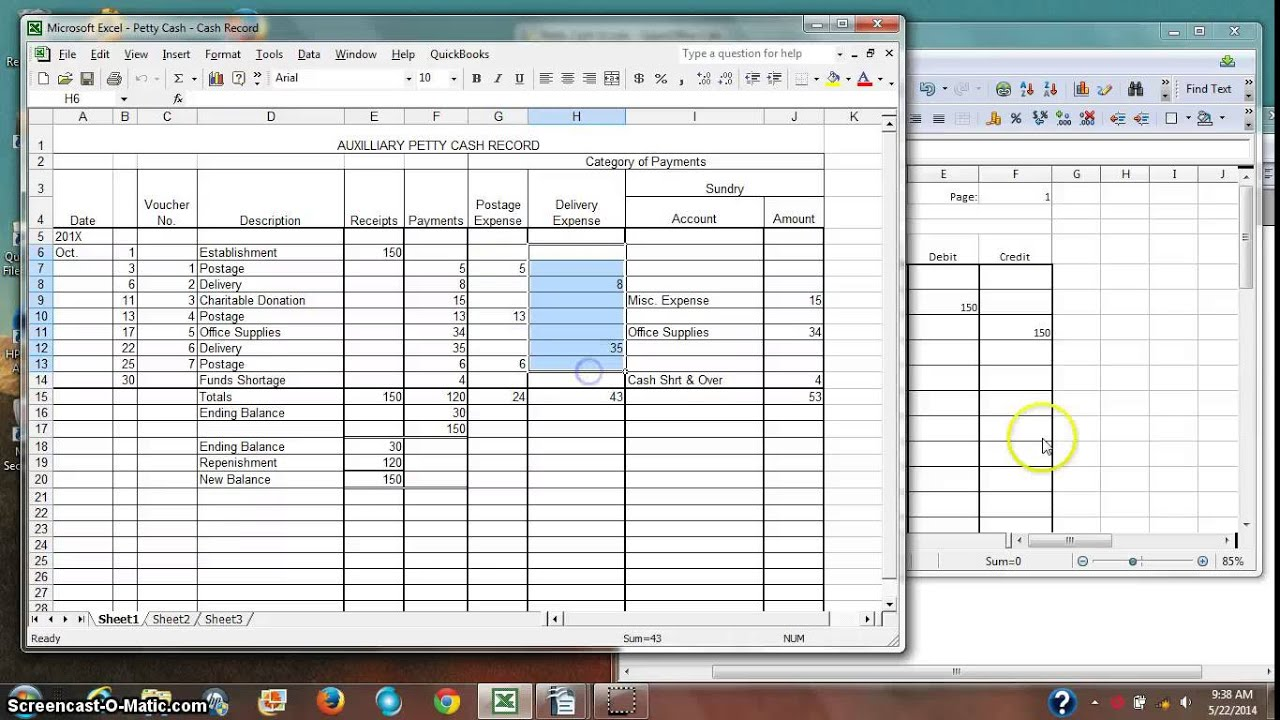 Accounting For Petty Cash