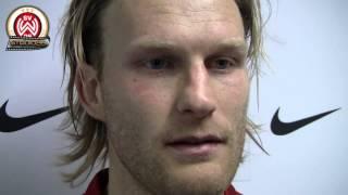 [SVWW] Nico Herzig nach dem Spiel gegen die Stuttgarter Kickers [SV Wehen Wiesbaden]
