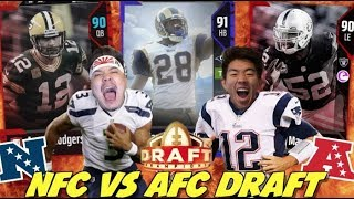 NFC VS AFC DRAFT VS WHEELZ! MADDEN 18 DRAFT CHAMPIONS