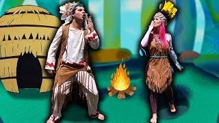 MALOUCOS FINGE BRINCAR DE ÍNDIO NA FLORESTA DO PERIGO ! - Pretend Play Indian In Forest