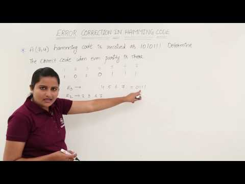 Error Detection and Correction in Hamming Code