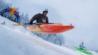 Snow Kayak Race in Estonia - Red Bull Snow Kayak 2013