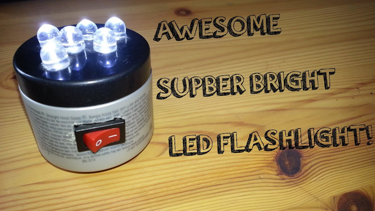 Homemade dual LED flashlight