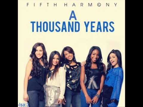 Fifth harmony a thousand years hq youtube