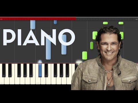 Carlos Vives Sebastian Yatra Robarte un Beso Piano Midi tutorial Sheet app Cover Karaoke
