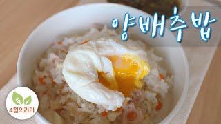 양배추밥 만들기, 소화안될때 먹는 소화잘되는 음식