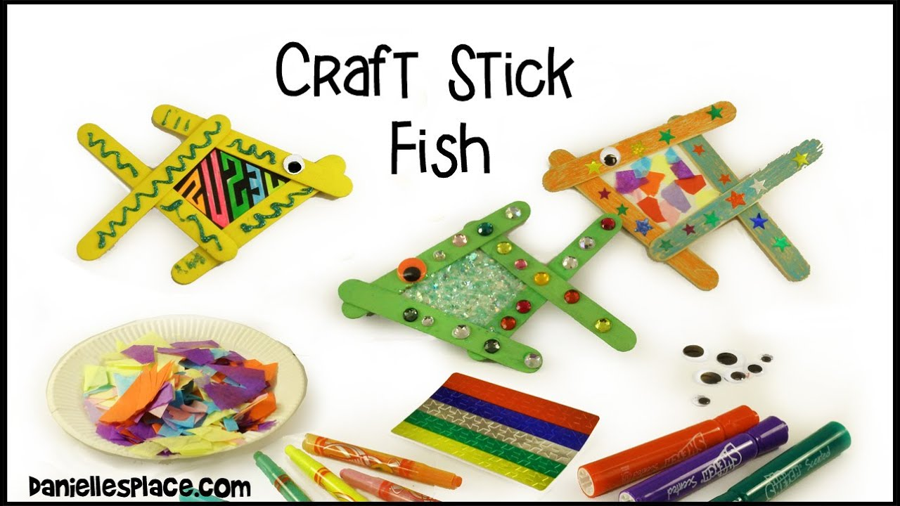Craft Stick Fish Craft View It And Do It Craft Youtube