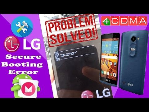 FIXed! Secure Booting Error LG LS665 Tribute 2!