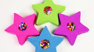 Kids Learn Colors And Numbers Education Video DIY Kinetic Sand Play Doh Toys