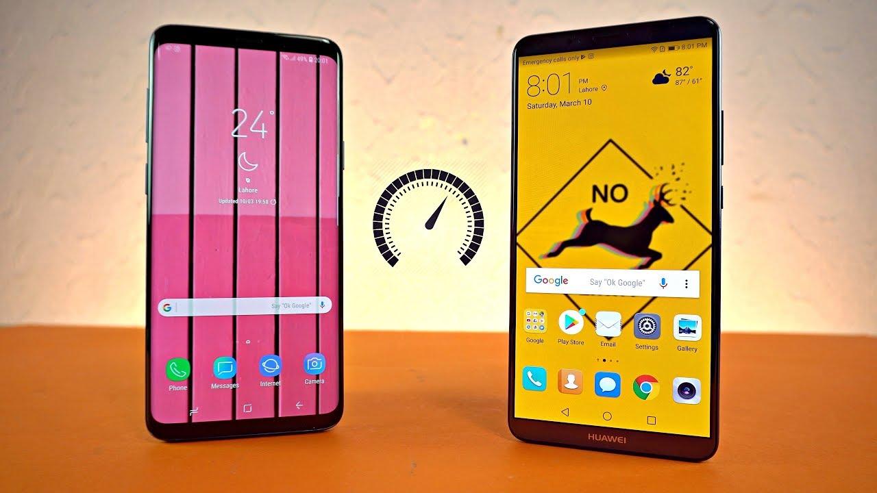 Samsung Galaxy S9 Plus vs Mate 10 Pro - Speed Test! (4K)