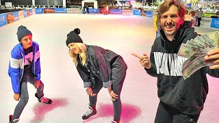 Last To Stop Ice Skating Wins $1000!
