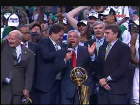 NBA Championship Trophy Presentation 2008 Celtics