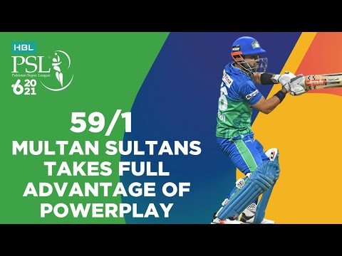 Multan Sultans Takes Full Advantage Of Powerplay   Peshawar vs Multan   Match 21   HBL PSL 6   MG2T