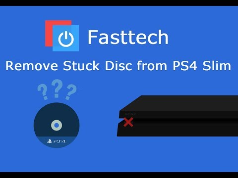 PS4 Slim Stuck Disc Removal Guide (Remove Game from a dead PS4)