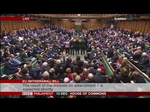 Theresa May is defeated. MP's vote for amendment 7 and voted to 'bring back control' #Brexit