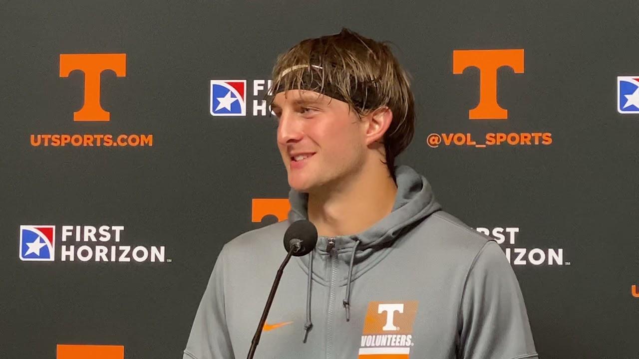 Tennessee Football: Walker Merrill talks during Florida week