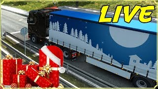 EURO TRUCK SIMULATOR 2 LIVE - LAVORO PER BABBO NATALE - CHRISTMAS GIFTS DELIVERY EVENT 2018