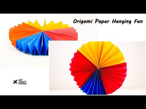 DIY Craft Paper : Paper Hanging Fan | How to Make Wall Hanging Paper Fan | Origami Paper Fan