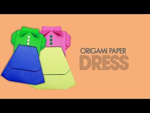 Paper Dress Origami | Paper Dress Making | Paper Dress | Popular Craft