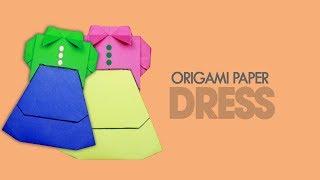 Paper Dress Origami   Paper Dress Making   Paper Dress   Popular Craft