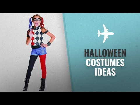 Top 10 Halloween Costume Ideas [2018]: Rubie's Official DC Super Hero Girl's Deluxe Harley Quinn
