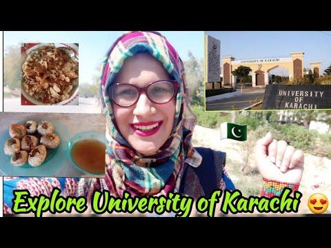 Karachi University Vlog|Street Food at PG,Pharmacy Department|Explore the Serenity of KU♡