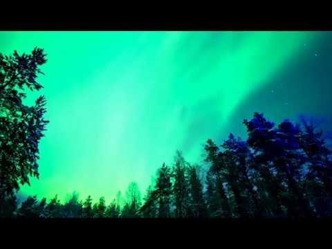 Relax Music & Stunning Aurora Borealis Northern Polar Lights 2 Hours HD 1080P