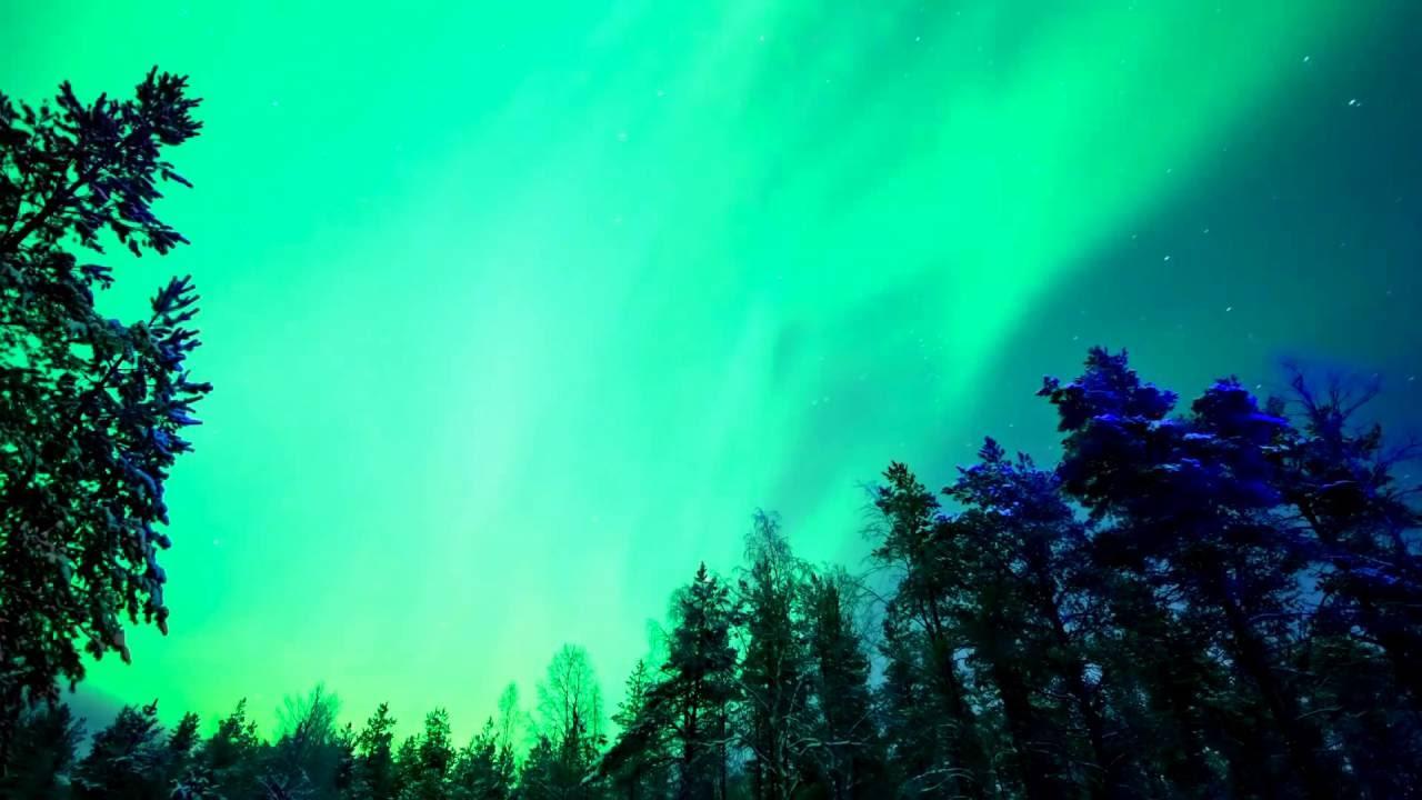 relax music stunning aurora borealis northern polar lights 2 hours