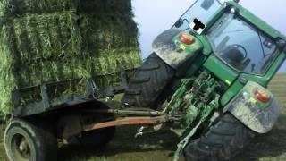 wypadki przy pracy 05 maszyny rolnicze,crash, ciagniki, zakopane, spalone