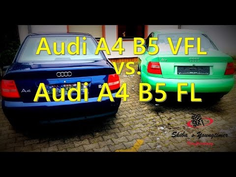 audi a4 b5 vorfacelift vs audi a4 b5 facelift youtube. Black Bedroom Furniture Sets. Home Design Ideas